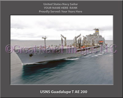 USNS Guadalupe T-AE 200 Personalized ship Photo