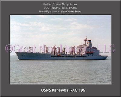 USNS Kanawha T-AO 196 Personalized Navy Ship Photo