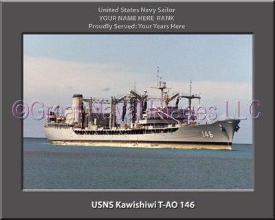 USNS Kawishiwi T-AO 146 Personalized ship Photo