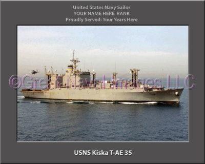 USNS Kriska T-AE-35 Personalized ship Photo