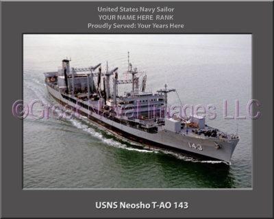 USNS Neosho T-AO 143 Personalized ship Photo