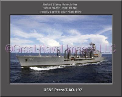 USNS Pecos T-AO-197 Personalized ship Photo