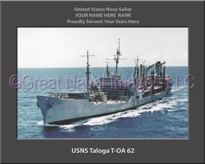 USNS Taloga T-AO 62 Personalized ship Photo