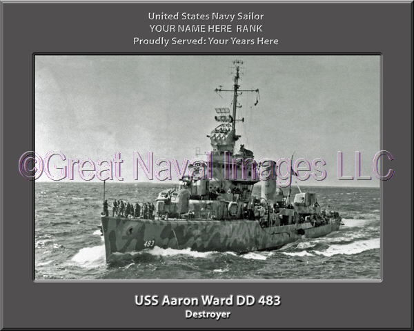 USS Aaron Ward DD 483 Personalized Photo on CanvasPersonalized Photo on Canvas
