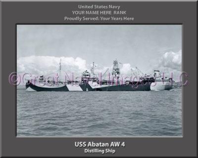 USS Abatan AW 4 Personalized ship Photo