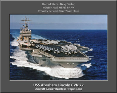 USS Abraham Lincoln CVN 7 Personalized Photo on Canvas2