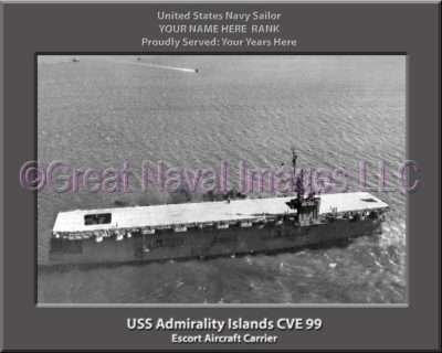 USS Admirality Island CVE 9 Personalized Photo on Canvas9