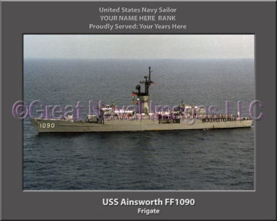 USS Ainsworth FF 1090 Personalized Ship Photo on Canvas