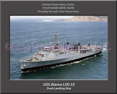 USS Alamo LSD 33 Personalized Navy Ship Photo