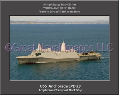 USS Anchorage LPD 23 Personalized Navy Ship Photo