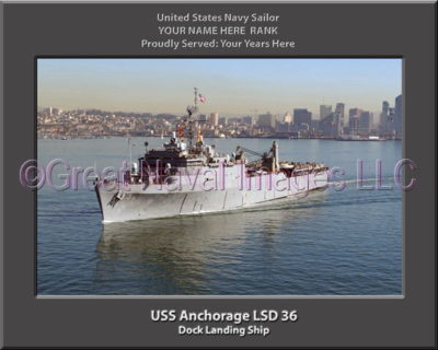 USS Anchorage LSD 36 Personalized Navy Ship Photo