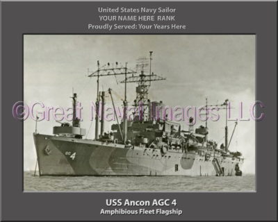 USS Ancon AGC 4 Personalized Navy Ship Photo