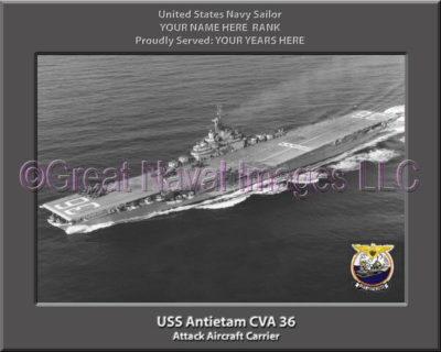 USS Antietam CVA 36 Personalized Photo on Canvas