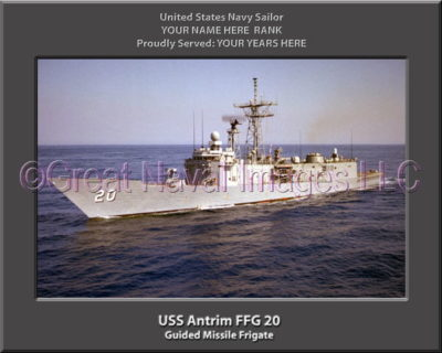 USS Antrim FFG 20 Personalized Ship Photo on Canvas