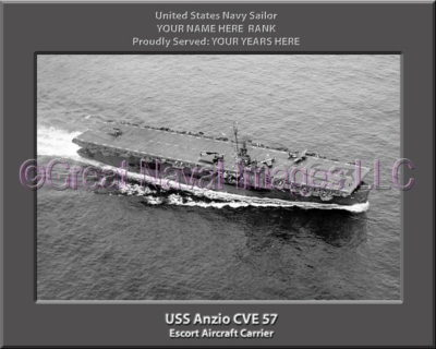 USS Anzio CVE 57 Personalized Photo on Canvas