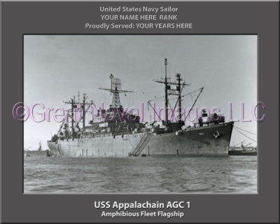 USS Appalachian AGC 1 Personalized Navy Ship Photo