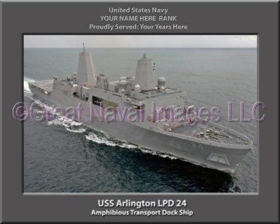 USS Arlington LPD 24 Personalized Navy Ship Photo