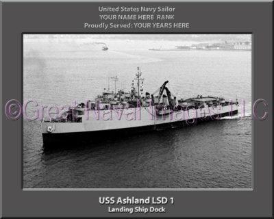 USS Ashland LSD 1 Personalized Navy Ship Photo