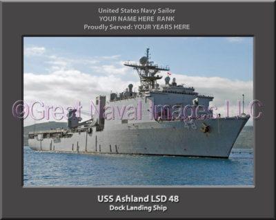 USS Ashland LSD 48 Personalized Navy Ship Photo