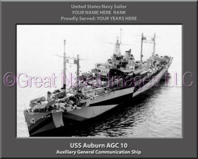 USS Auburn AGC 10 Personalized Navy Ship Photo