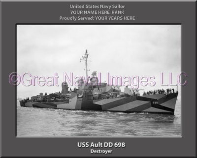 USS Ault DD 698 Personalized ship Photo