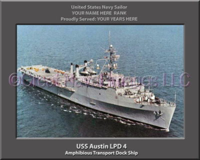 USS Austin LPD 4 Personalized Navy Ship Photo