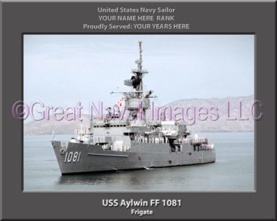 USS Aylwin FF 1081 Personalized Ship Photo on Canvas