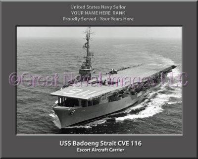 USS Badoeng Strait CVE 116 Personalized Photo on Canvas
