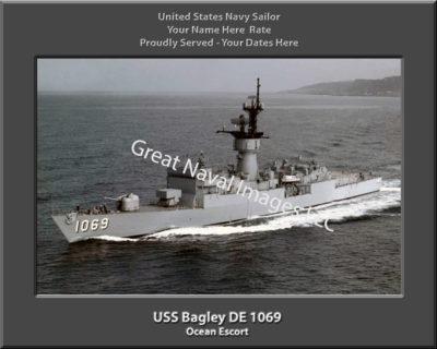 USS Bagley DD 1069 Personalized ship Photo