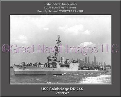 USS Bainbridge DD 246 Personalized Navy Ship Photo
