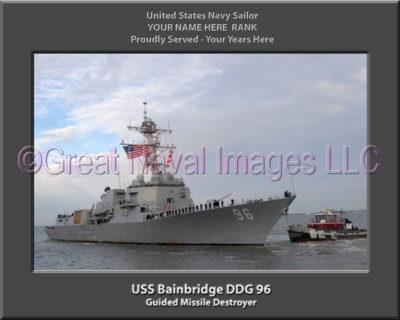 USS Bainbridge DDG 96 Personalized ship Photo