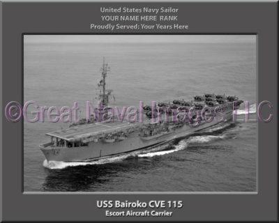 USS Bairoko CVE 115 Personalized Photo on Canvas