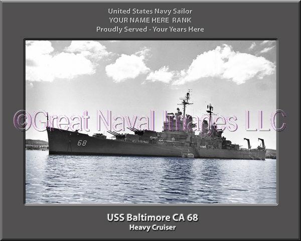 USN Navy Ship USS Amsterdam CL 101  Photo Canvas Print