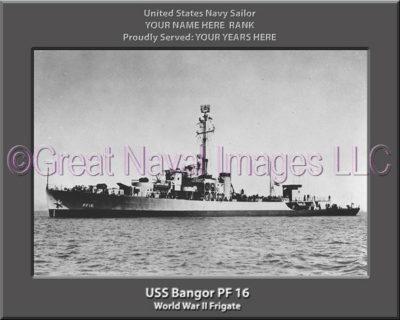 USS Bangor PF 16 Personalized Navy Ship Photo