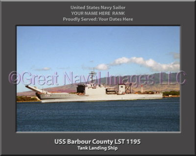 USS Barbour County LST 1195 Personalized Navy Ship Photo
