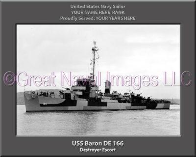 USS Baron DE 166 Personalized Navy Ship photo