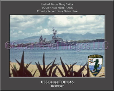 USS Bausell DD 845 Personalized ship Photo