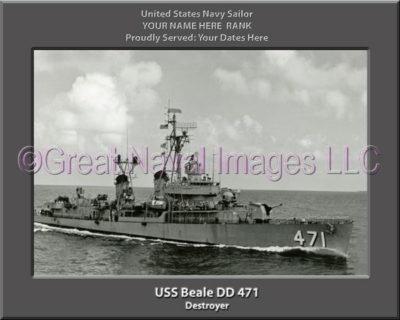 USS Beale DD 471 Personalized ship Photo