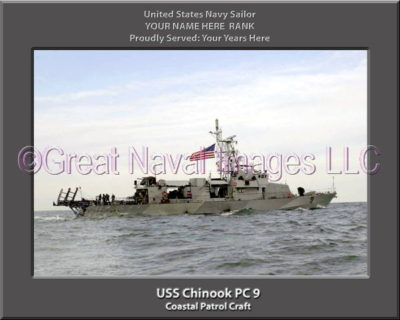 USS Chinook PC 9 Personalized and Printed on Canvas