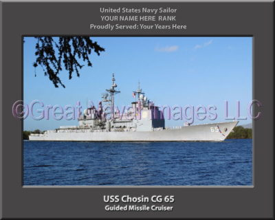 USS Chosin CG 65 Personalized Navy Ship Photo Printed on Canvas