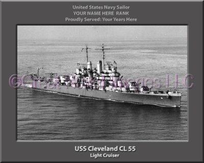 USS Cleveland CL 55