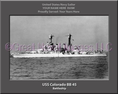 USS Colorado BB 45 Personalized Photo on Canvas