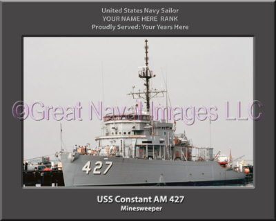 USS Constant AM 427 Personalized and Printed on Canvas