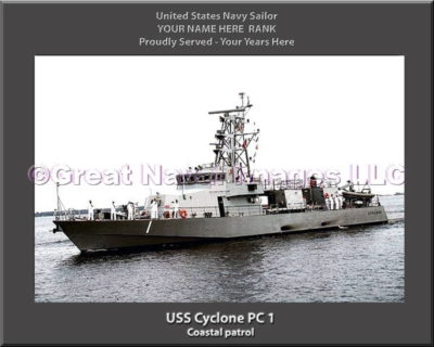 USS Cylone PC 1 Personalized Photo on Canvas