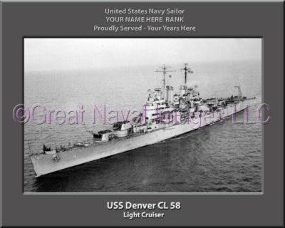 USS Denver CL 58