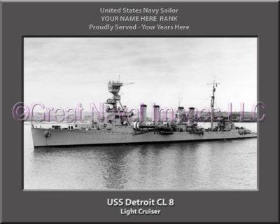 USS Detroit CL 8