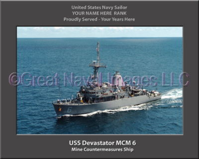 USS Devestator MCM 6 Personalized Photo on Canvas
