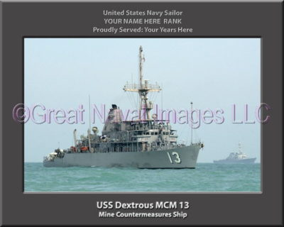 USS Dextrous MCM 13 Personalized Photo on Canvas