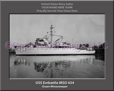 USS Embattle MSO 434 Personalized Photo on Canvas