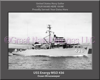USS Energy MSO 436 Personalized Photo on Canvas